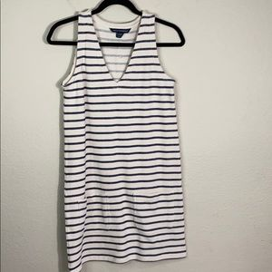 French Connection Sleeveless Stripe Pocket Dress